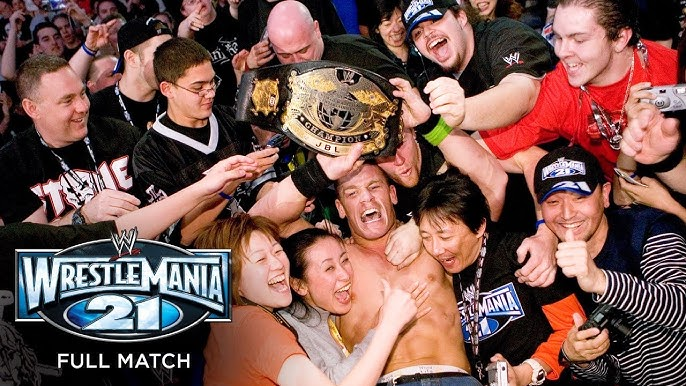 "FULL MATCH - John Cena vs. John ""Bradshaw"" Layfield – WWE Championship Match: WrestleMania 21 - YouTube"