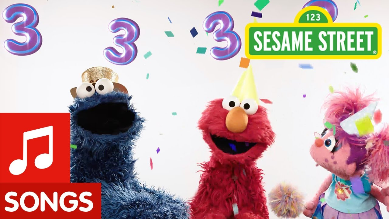 Sesame Street Happy Birthday Song 3 Years Old Youtube