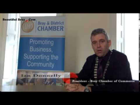 Ian Donnelly - President of Bray Chamber of Commerce gives Best Wishes to BeautifulBray.com