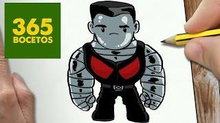 COMO DIBUJAR COLOSSUS DE DEADPOOL KAWAII PASO A PASO - Dibujos faciles - How to draw COLOSSUS