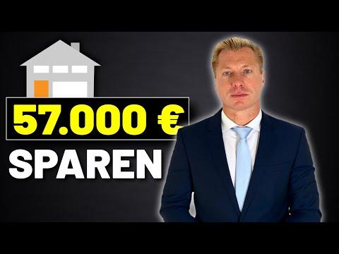57.000€ Sparen bei bestehender Immobilien-Finanzierung (geringerer Zins)
