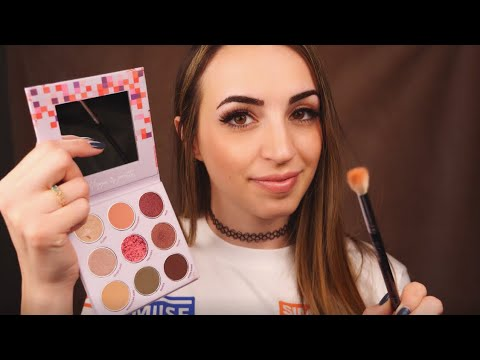 ASMR | Big Sister Does Your Makeup | Relaxing | 60fps thumbnail