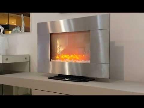 cheminee electrique inox