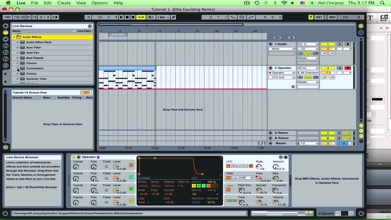 how to make stutter effect in ableton