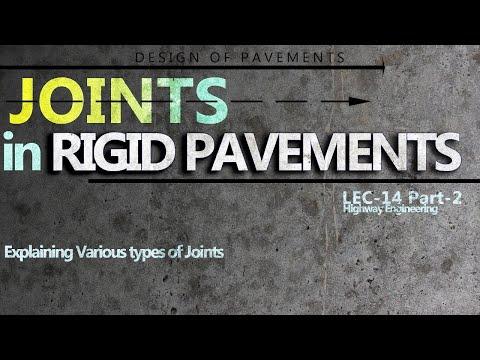 Type Of Joints | Design Of Rigid Pavements | Lec-14 Part-2