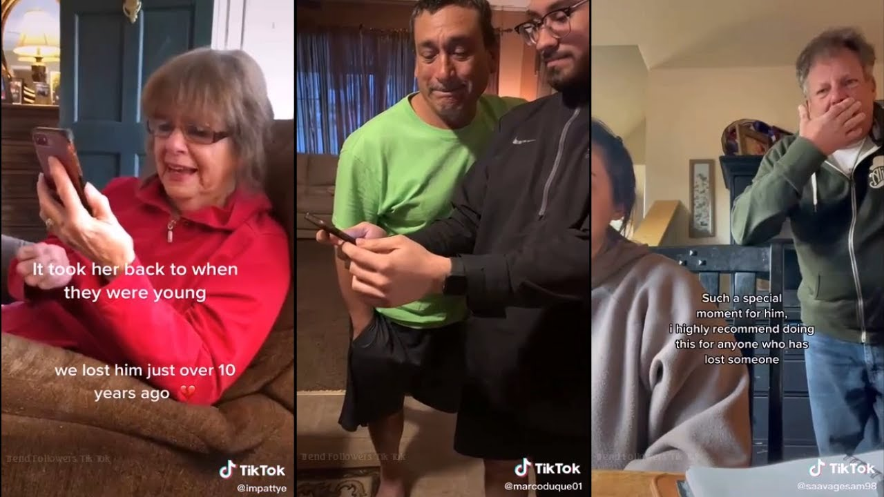 Parents reaction to the app bringing to life a photo of their relatives who passed away