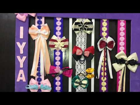 How To Make A Bow & Headband Organizer   Best Out of Waste