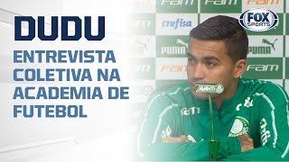DUDU AO VIVO! Meia do Palmeiras concede entrevista coletiva na Academia de Futebol