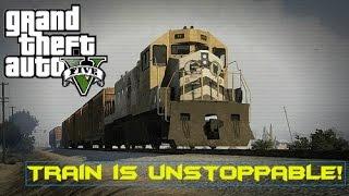 GTA V: Online - Train is Unstoppable (Train vs Dump Truck, Insurgent, 18 Wheeler, and More!)