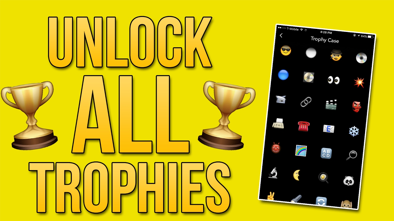 how to unlock all my snapchat trophies