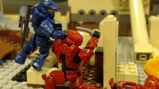 """Team Slayer  Doubles on """"Mud Puddle"""" (Halo Mega Bloks Stop Motion)"""