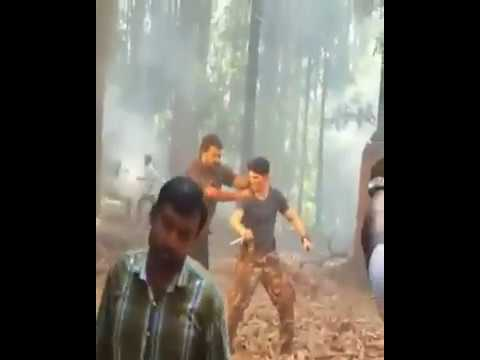 Pulimurugan action sequences - Behind the...