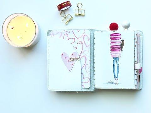 Valentines Travelers Notebook Setup \\ Foxy Fix Sugar Coconut \\