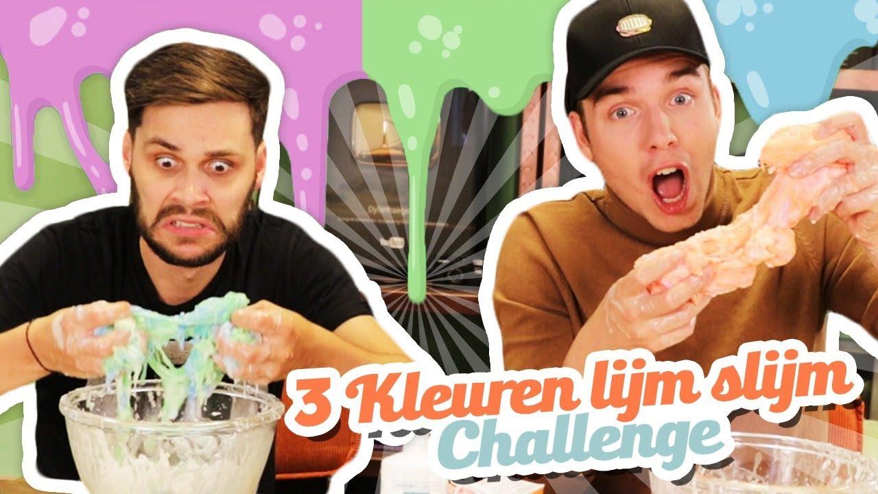 3 KLEUREN LIJM SLIJM CHALLENGE!