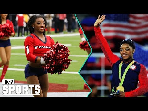 Simone Biles Crushes Texans Cheerleading Debut | TMZ Sports