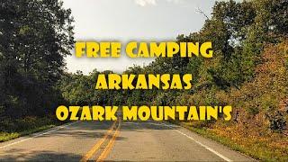 Free Camping Arkansas Oząrk Mountains