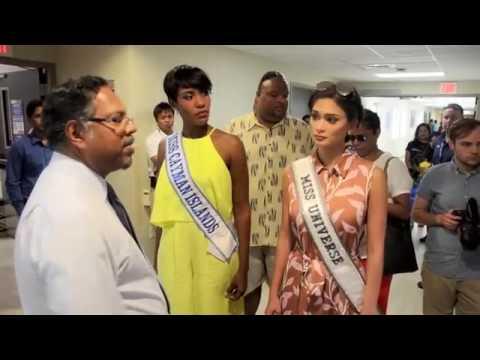 Miss Universo Visita Health CIty Cayman Islands