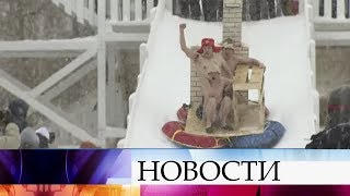 В Казани катание на санях превратили в необычное шоу.