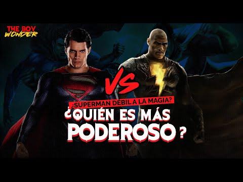 Black Adam VS Superman ¿Quién gana? ¿Superman es débil a la magia?
