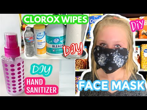 *household-cleaners-that-fight-the-coronavirus-*-diy-mask,-clorox-wipes,-hand-sanitizer,-&-bleach