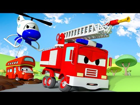 Download Youtube: Sticky Mud  !! The Car Patrol: Fire Truck and Police Car in Car City | Cartoon Car for children