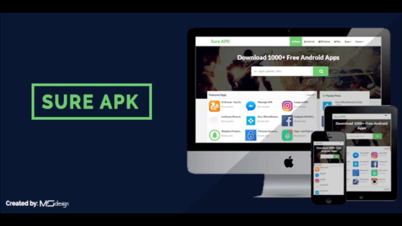 Sure APK Blogspot Template Free Download (Latest Version) - YouTube