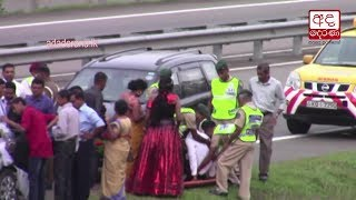 Newly married couple injured in accident on highway