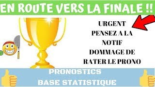 PARIS SPORTIFS : PRONOS TENNIS HOMME TOP CONFIANCE BASE STATISTIQUE