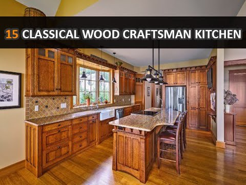 15 classical natural wood craftsman kitchen design ideas