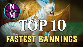 MTG Top 10: Cards That Got Banned The Fastest