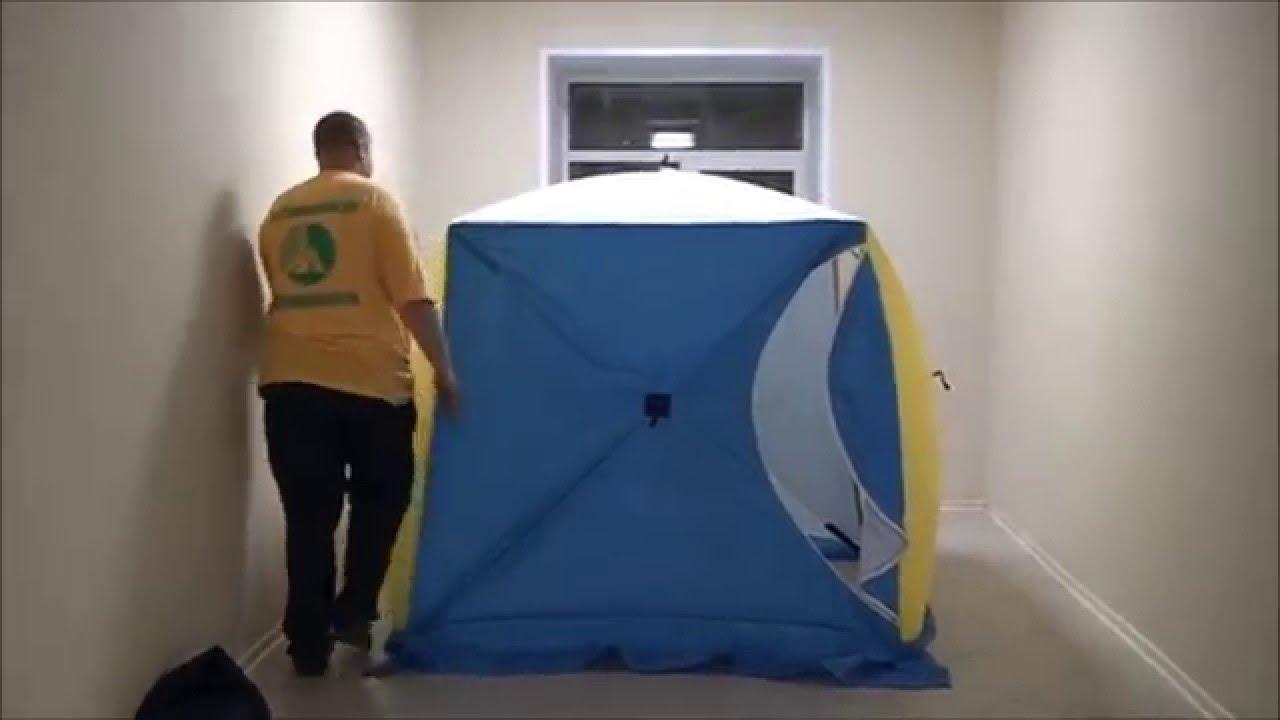 Зимняя палатка Митек Нельма 2 куб с внутренним тентом - YouTube