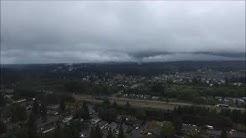 Drone video of tornado starting to form near Battle Ground, Washington