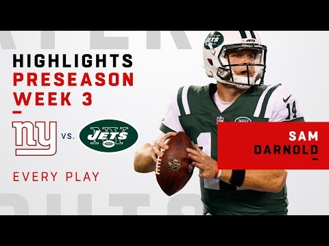 Every Sam Darnold Run & Throw vs. Giants