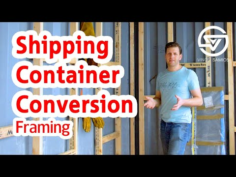 Timber Framing – Shipping Container Conversion – Container Home Office