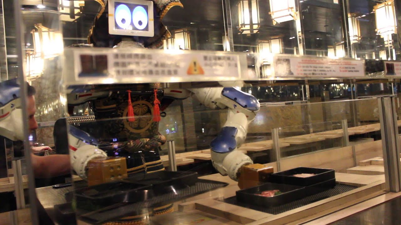 Robot Waiter At Hajime Robot Restaurant In Bangkok Thailand Youtube
