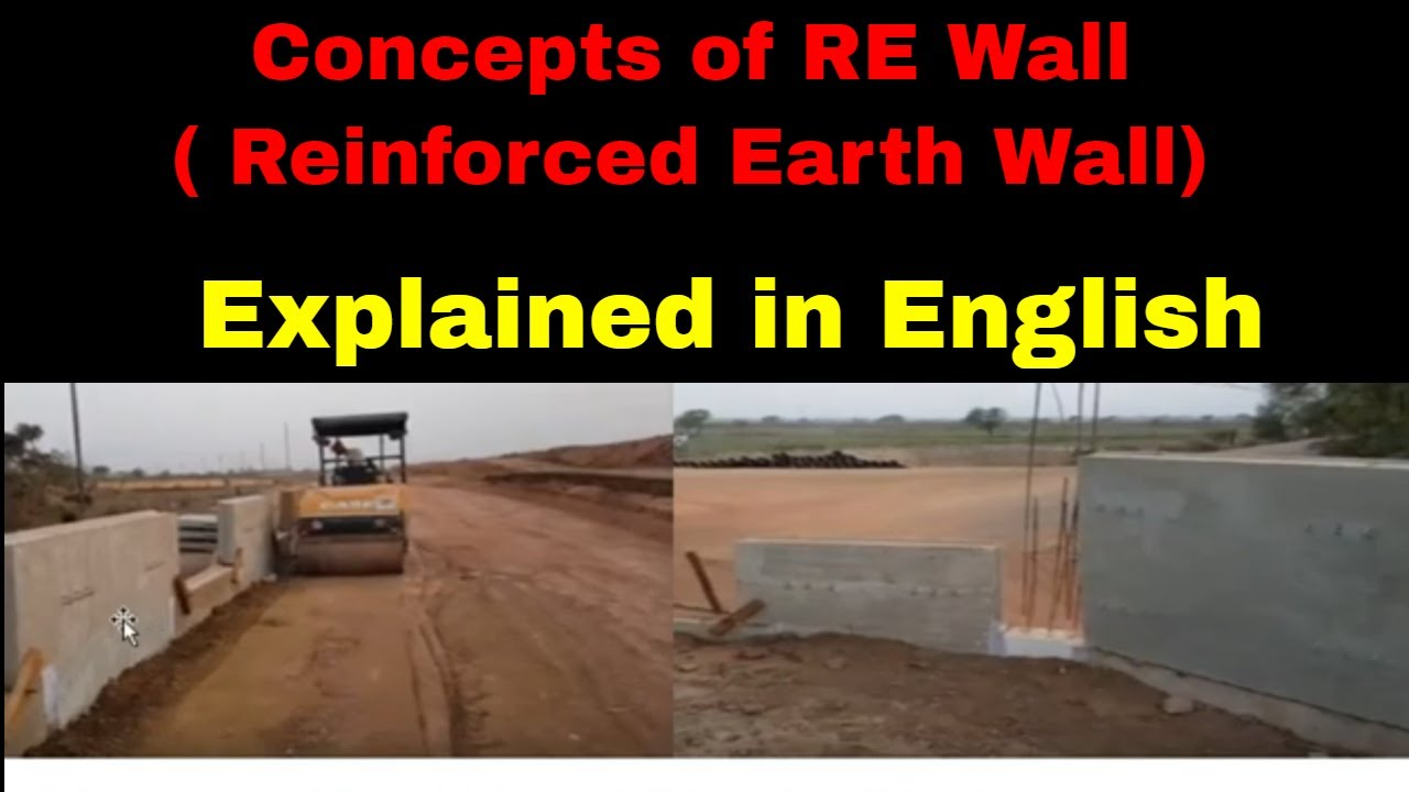 RE wall(IN ENGLISH)Reinforced Earth WallParts and FunctionsRetaining Wall
