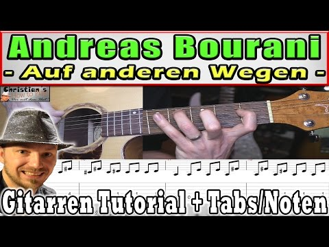 ★Andreas Bourani AUF ANDEREN WEGEN Gitarre Tutorial Tabs Chords Lyrics Deutsch Video Lesson