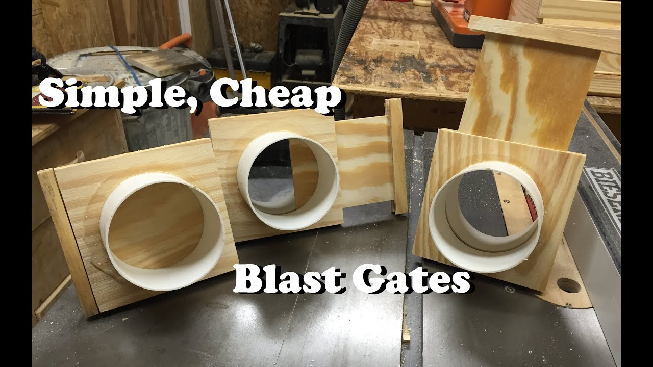 Simple Cheap Blast Gates Free Plans Youtube