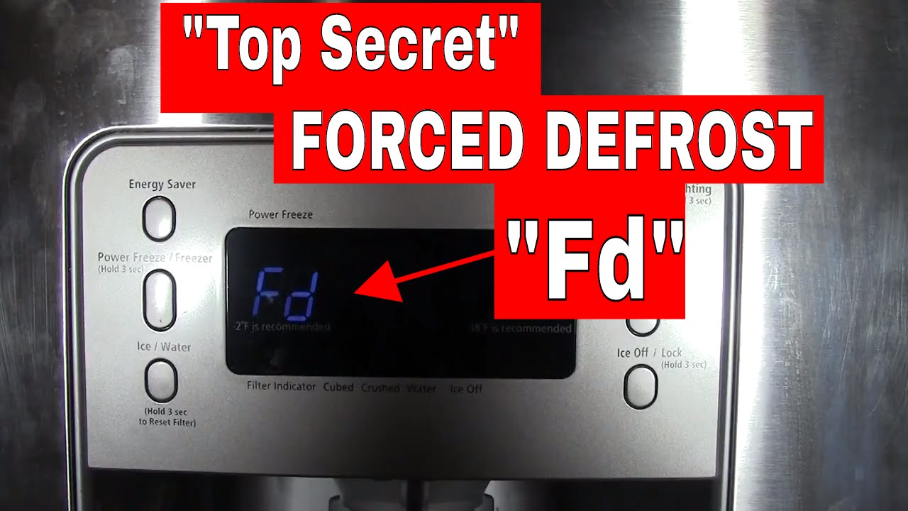 FORCED (manual) DEFROST mode on a Samsung Refrigerator