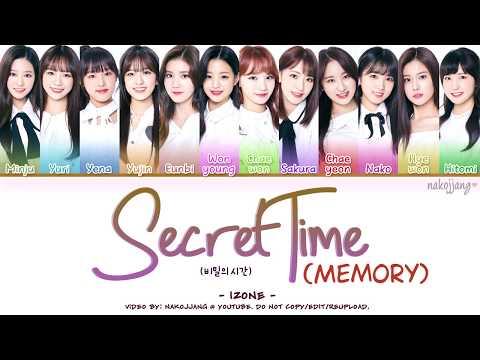 IZ*ONE (아이즈원) – MEMORY/SECRET TIME (비밀의 시간) (Coded Lyrics Eng/Rom/Han/가사)