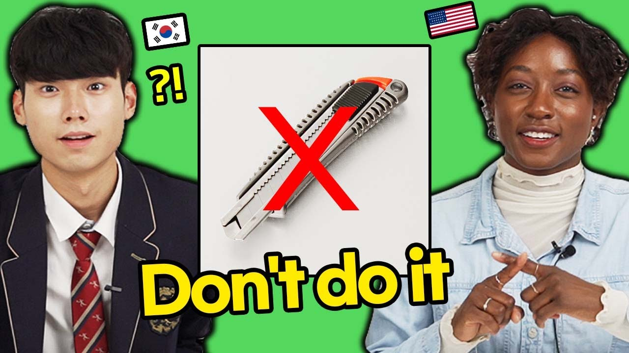 Things that should never be done in US VS Korea : AMERICAN & KOREAN TEEN REACTION