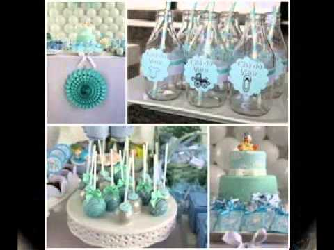 Boy baby shower decorating ideas youtube for Baby shower modern decoration