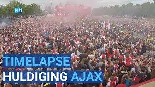 TIMELAPSE Huldiging Ajax Museumplein Amsterdam