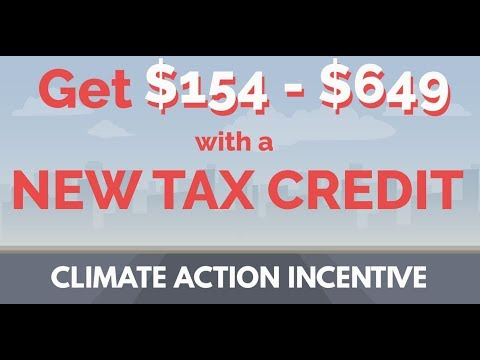 NEW TAX CREDIT 2019: Canada