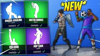 *NEW* Fortnite Season 4 DANCES IN REAL LIFE LEAKED! (Pop Lock,Red Card, Cry, Soccer Juggling, T-rex)