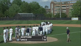 uncg baseball vs wofford game 3
