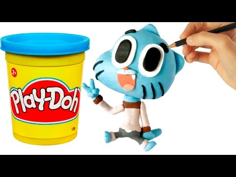 Gumball Play Doh Stop Motion claymation video