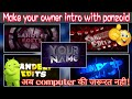 अब अपने Android से 3D intro बनाये || panzoid tutorial hindi || panzoid || Hindi / urdu