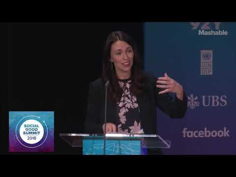 PM Jacinda Ardern Opens the Social Good Summit