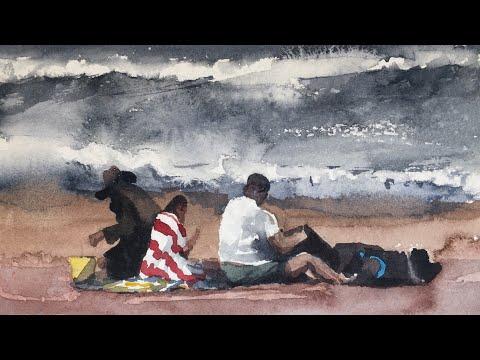 Simple watercolor – painting PEOPLE
